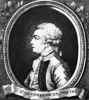 Count LaMotte, who fled to England after perpetrating a scandal