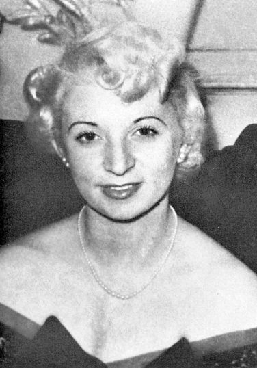 Blonde pub hostess Ruth Ellis, who shot and killed her lover