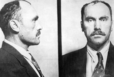 A police photo of serial killer and thief, Carl Panzram, a bestial mur