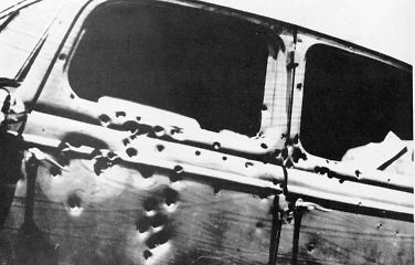 The car in which Bonnie and Clyde were riding