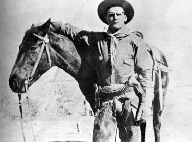 Butch Cassidy when he worked as a cowboy while robbing banks