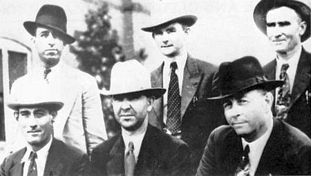 The six Texas Rangers who shot and killed Bonnie and Clyde